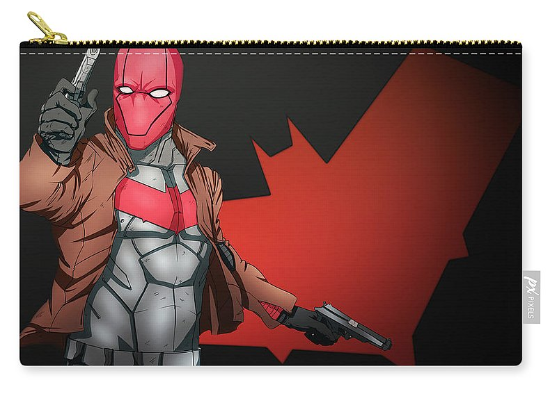 Red Hood Carry-all Pouch featuring the digital art Red Hood by Dorothy Binder