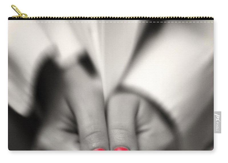 Readult Carry-all Pouch featuring the photograph Red Is My Color by Stelios Kleanthous