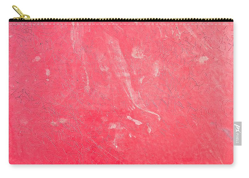 Abstract Carry-all Pouch featuring the photograph Red Plastic by Tom Gowanlock