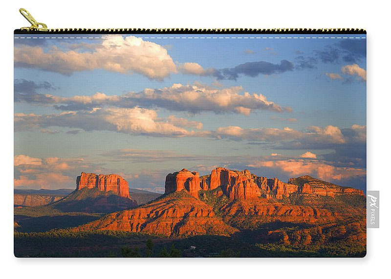 Red Rocks Carry-all Pouch featuring the photograph Red Rocks Sunset by Alexey Stiop