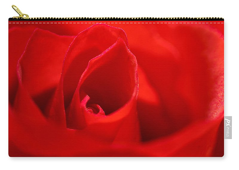 Rose Carry-all Pouch featuring the photograph Red Rose by Svetlana Sewell