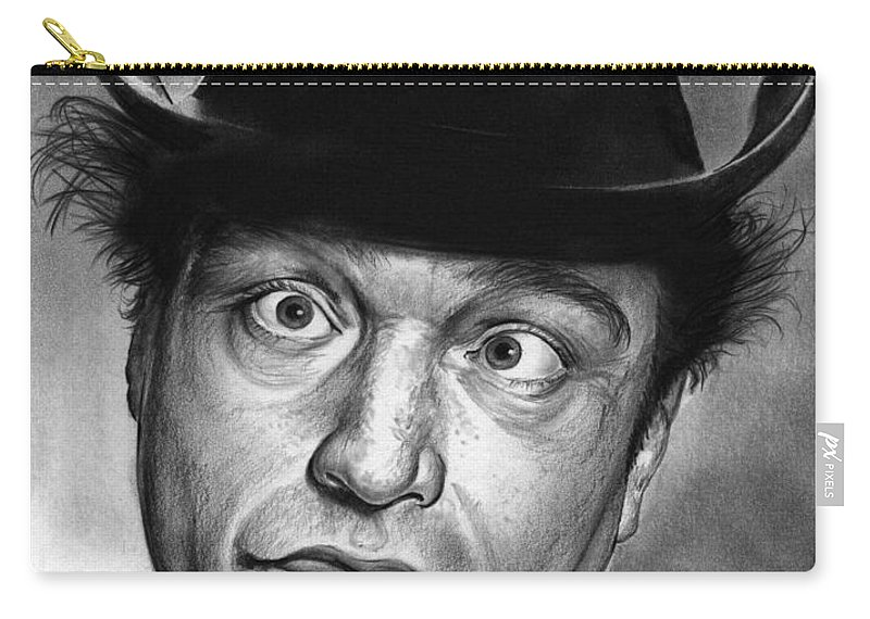 Celebrity Carry-all Pouch featuring the drawing Red Skelton by Greg Joens