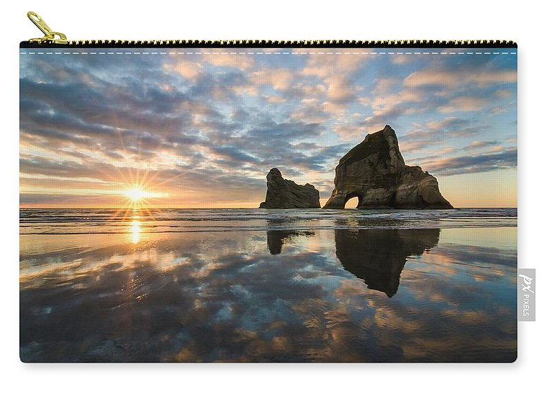 Reflection Carry-all Pouch featuring the digital art Reflection 1 by Maye Loeser