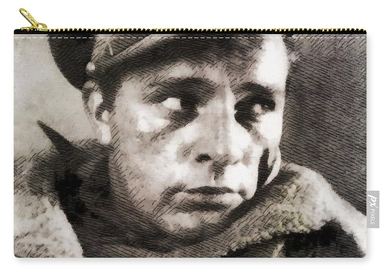 Hollywood Carry-all Pouch featuring the painting Richard Burton, Vintage Actor by John Springfield