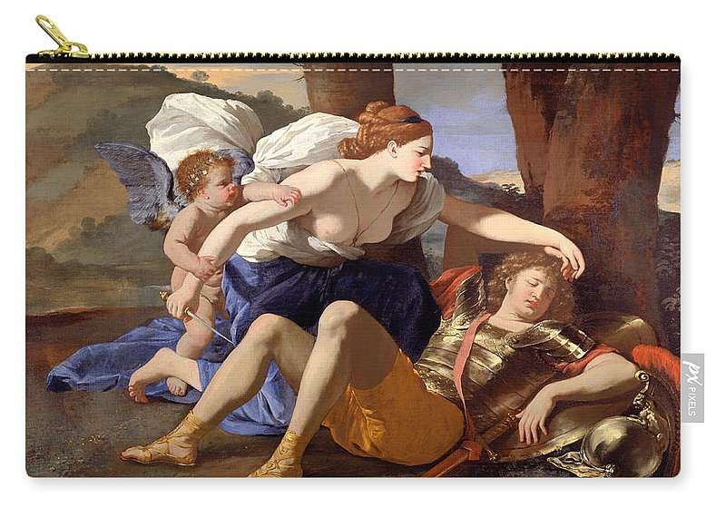 Painting Carry-all Pouch featuring the painting Rinaldo And Armida by Mountain Dreams