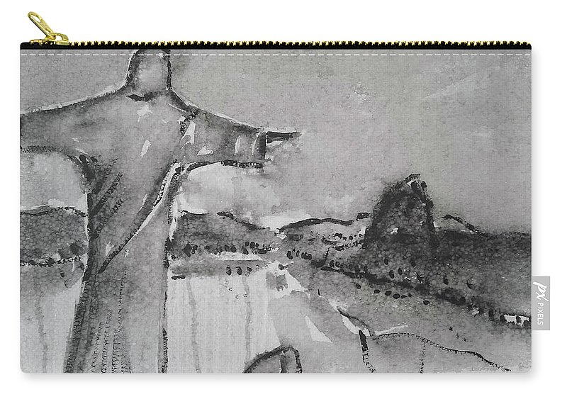 Rio De Janeiro Carry-all Pouch featuring the painting Rio De Janeiro by Springtime Seventy Eight