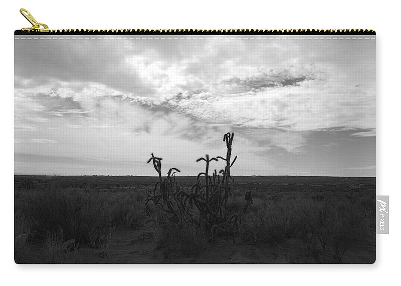 Black And White Carry-all Pouch featuring the photograph Rio Rancho by Rob Hans