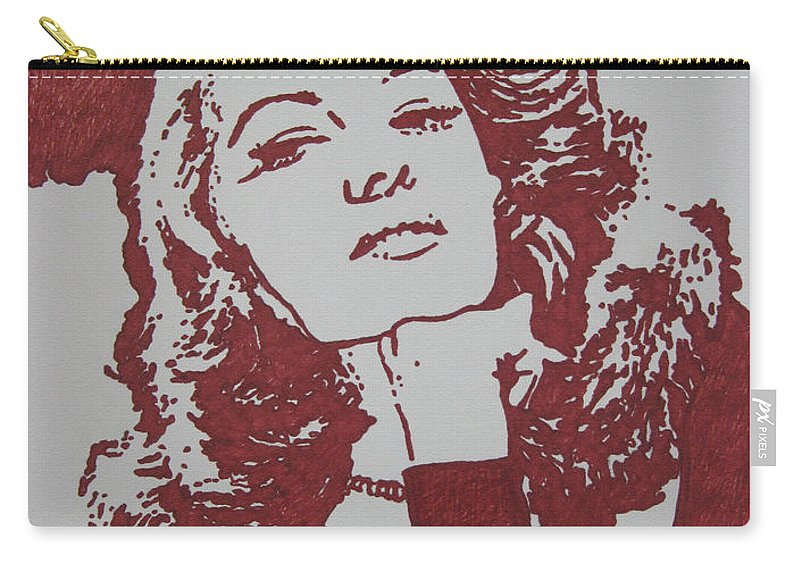 Rita Carry-all Pouch featuring the drawing Rita by Lynet McDonald