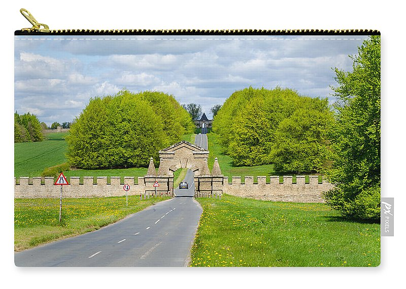 Burghley Carry-all Pouch featuring the photograph Road To Burghley House by Shanna Hyatt