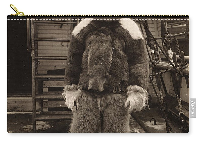 1909 Carry-all Pouch featuring the painting Robert Peary (1856-1920) by Granger