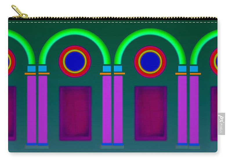 Classical Carry-all Pouch featuring the painting Roman Architecture by Charles Stuart