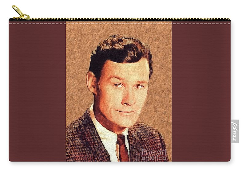 Ron Carry-all Pouch featuring the painting Ron Hayes, Vintage Actor by John Springfield