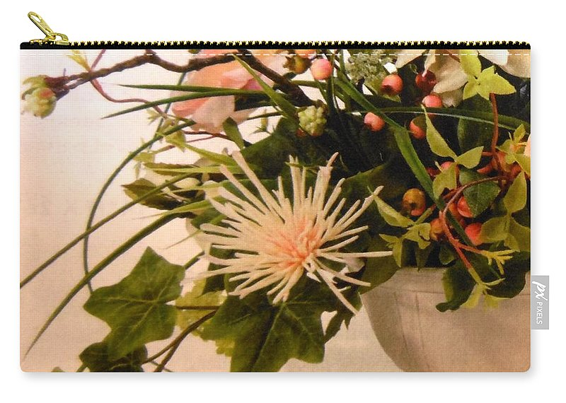 Flowers Carry-all Pouch featuring the photograph Roses Ll by Lord Frederick Lyle Morris - Disabled Veteran