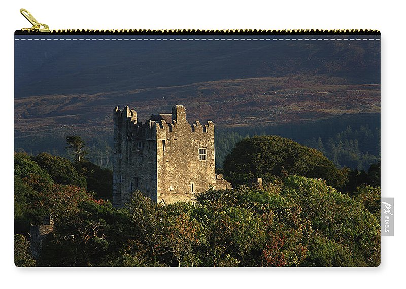 Castle Carry-all Pouch featuring the photograph Ross Castle, Killarney National Park 1 by Aidan Moran