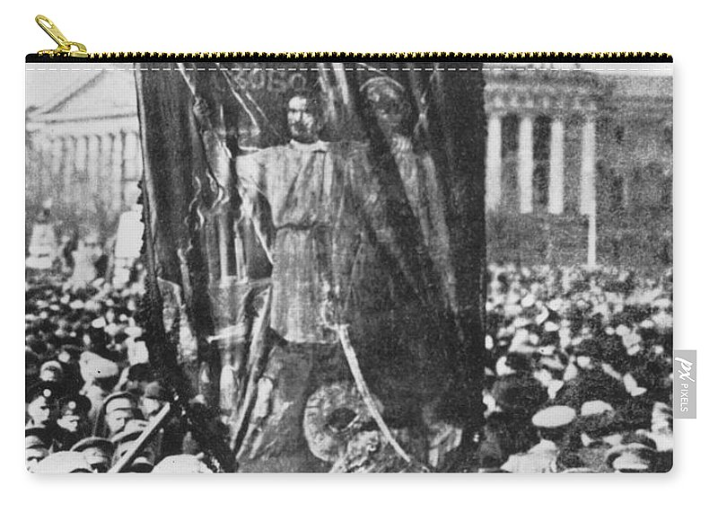 1917 Carry-all Pouch featuring the photograph Russia: Revolution Of 1917 by Granger