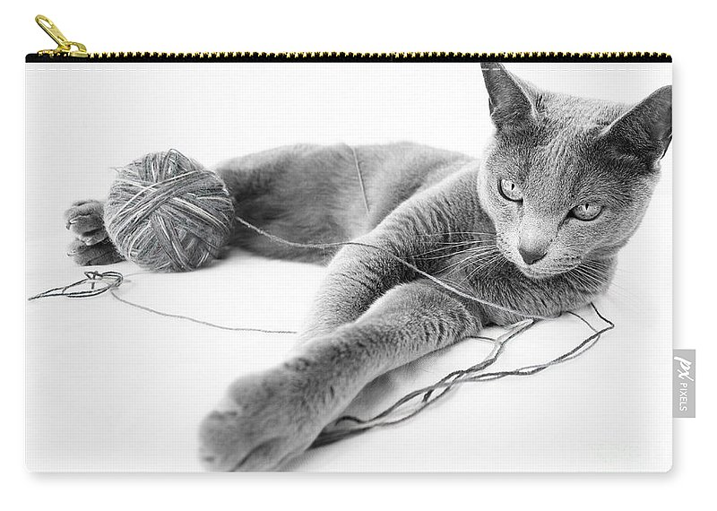 Russian Carry-all Pouch featuring the photograph Russian Blue by Nailia Schwarz