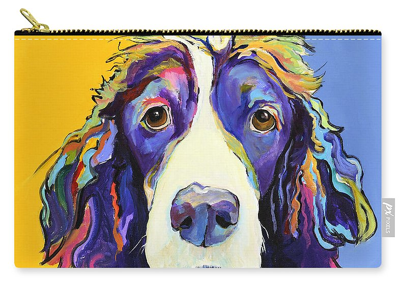 Blue Carry-all Pouch featuring the painting Sadie by Pat Saunders-White