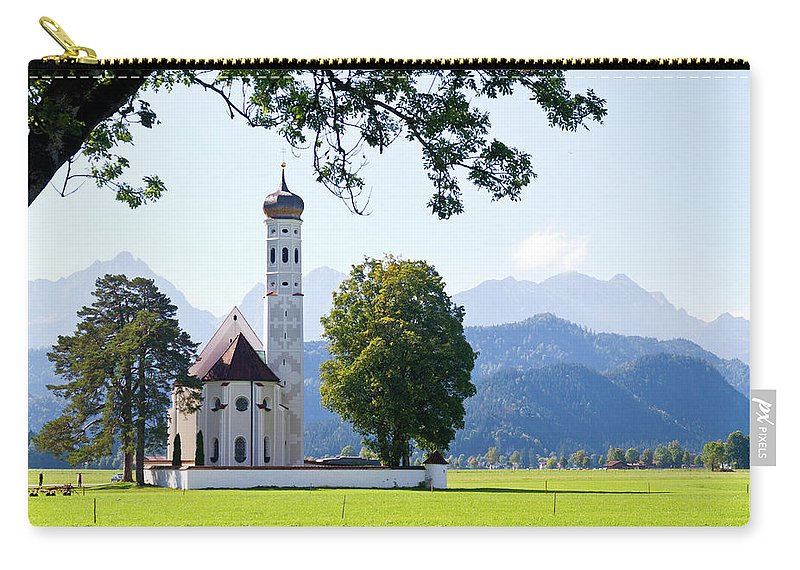 St. Carry-all Pouch featuring the photograph Saint Coloman Church 2 by Bernard Barcos