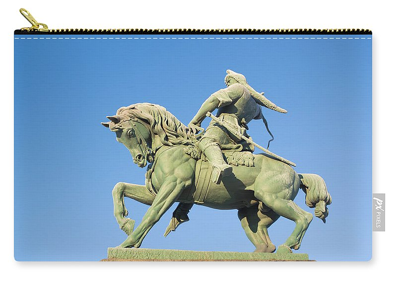 Russia Carry-all Pouch featuring the photograph Salavat Yulaev Ufa Russian Hero by John Williams