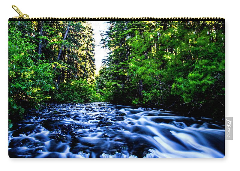 Carry-all Pouch featuring the photograph Salt Creek Falls by Angus Hooper Iii