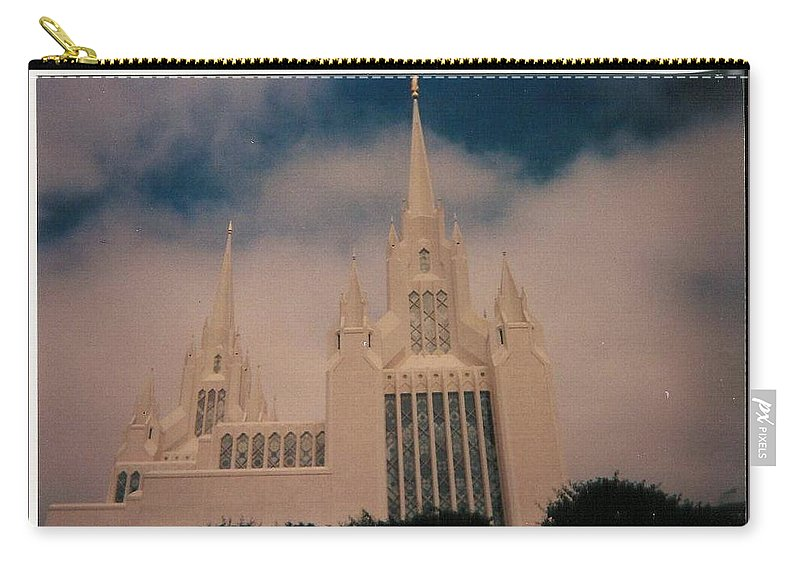 San Diegottemple Carry-all Pouch featuring the photograph #1 San Diego Temple by Paul - Phyllis Stuart