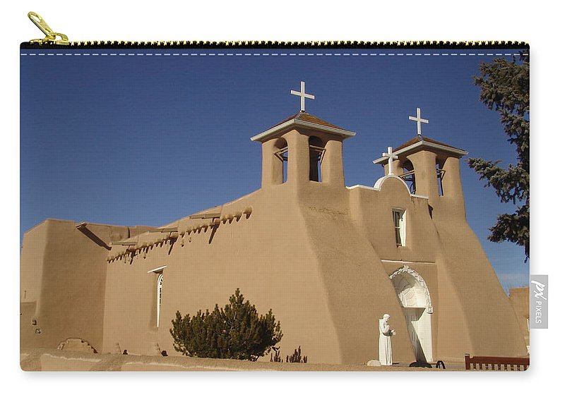 Church Carry-all Pouch featuring the photograph San Francisco De Asis Mission Church by Carol Milisen