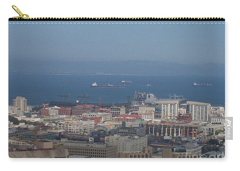 San Francisco's Bay Carry-all Pouch featuring the photograph San Francisco's Bay by Pharris Art