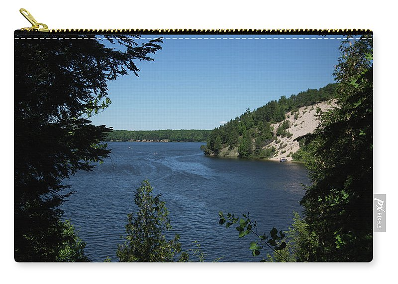 Au Sable River Carry-all Pouch featuring the photograph Sandy Dune by Linda Kerkau