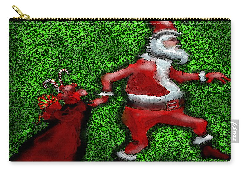 Santa Carry-all Pouch featuring the greeting card Santa Claus by Kevin Middleton