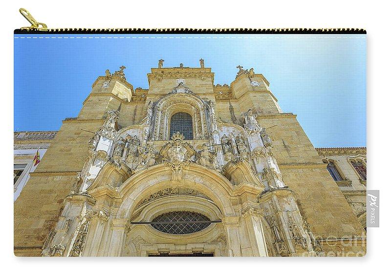 Coimbra Carry-all Pouch featuring the photograph Santa Cruz Monastery Facade by Benny Marty