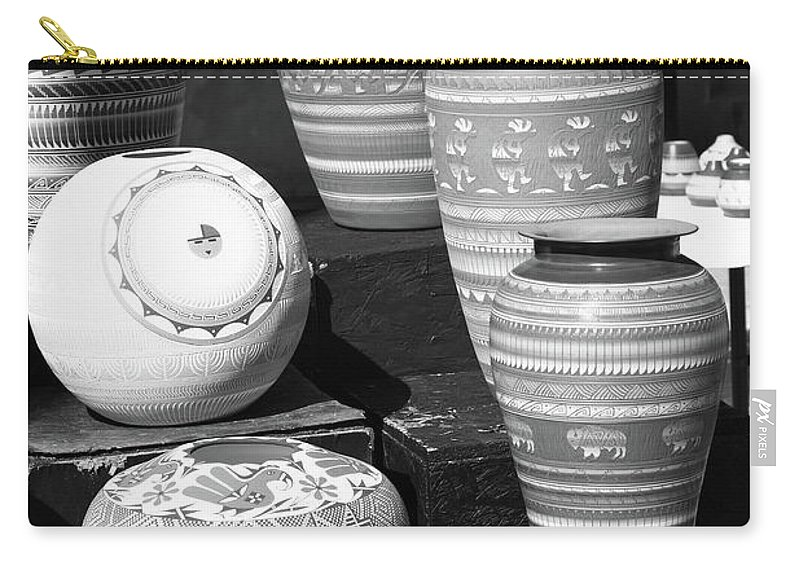 America Carry-all Pouch featuring the photograph Santa Fe - Pottery by Frank Romeo