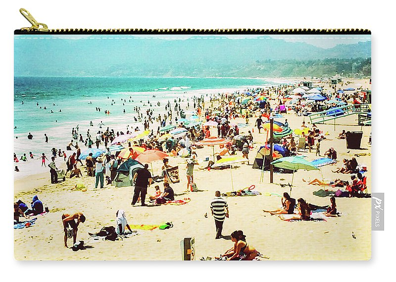 Landscape Carry-all Pouch featuring the photograph Santa Monica Beach by Cate O'Donnell
