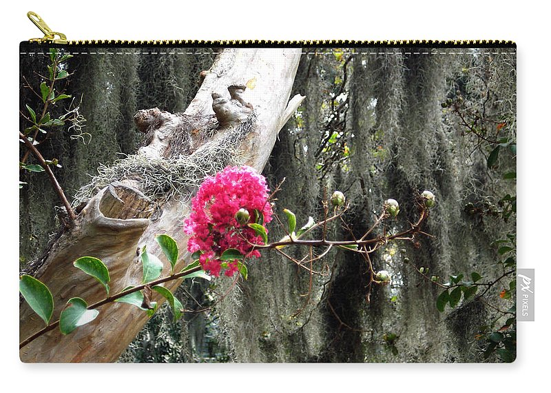 Savannah Carry-all Pouch featuring the photograph Savannah by Mindy Newman