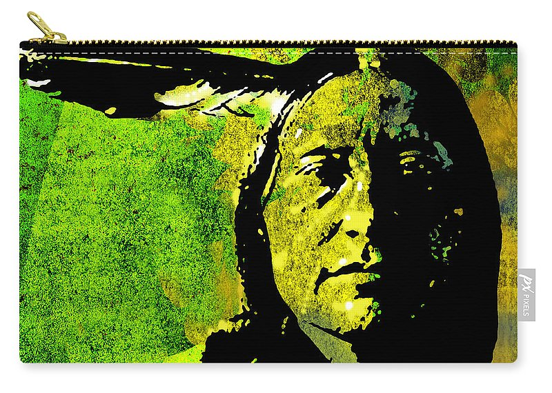 Native American Carry-all Pouch featuring the painting Scabby Bull by Paul Sachtleben