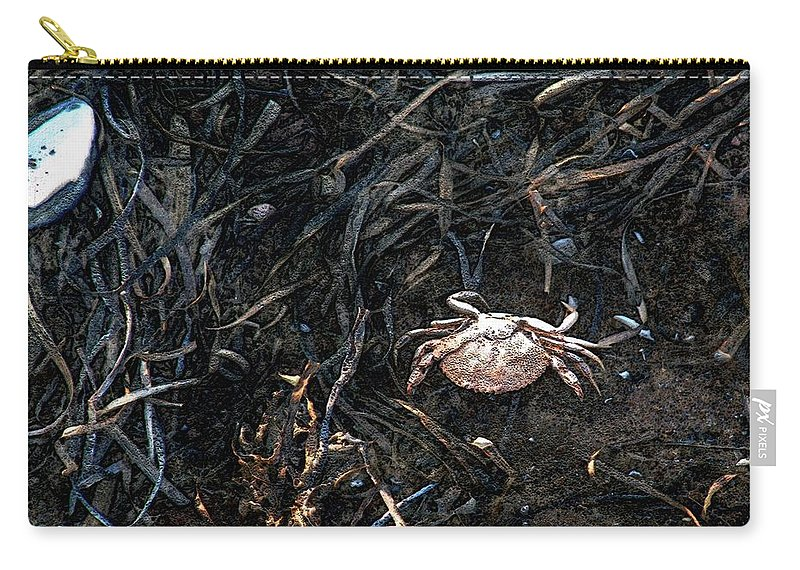 Beach Carry-all Pouch featuring the painting Scuttling To Safety by RC DeWinter