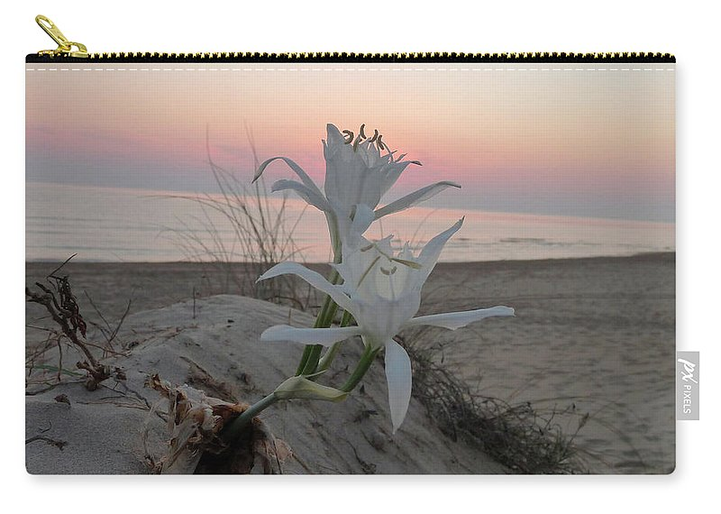 Flowers Carry-all Pouch featuring the photograph Summer Sea Lilies by Rayne Van Sing
