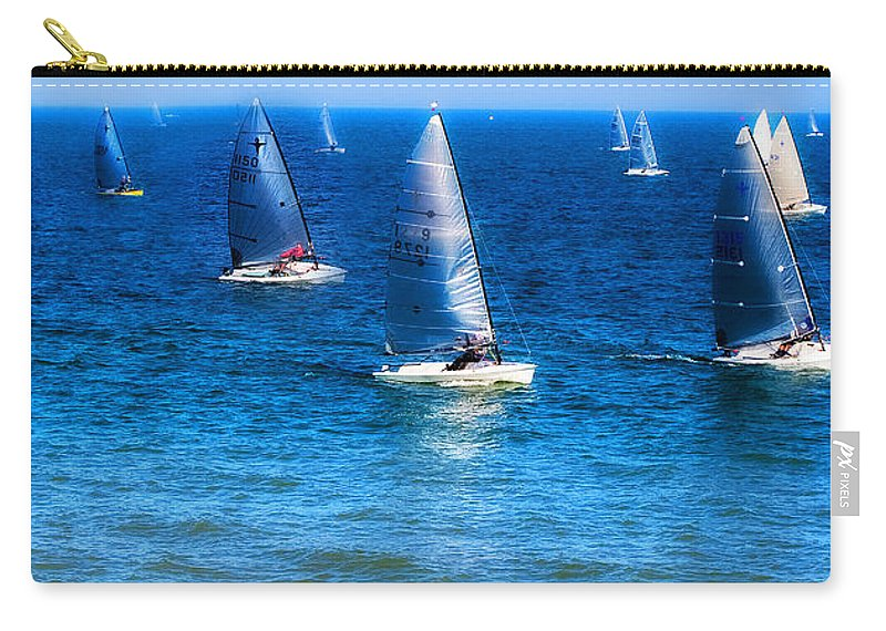 Sea Carry-all Pouch featuring the photograph Seaside Fun by Mal Bray