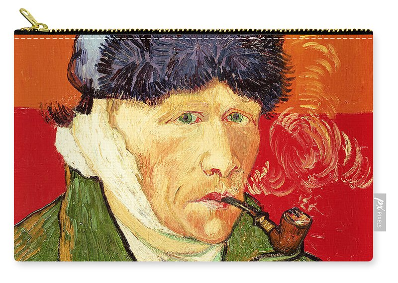 Van Gogh Carry All Pouch Featuring The Painting Self Portrait With Bandaged Ear And Pipe