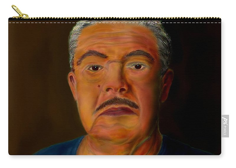 Selfportrait Carry-all Pouch featuring the painting Selfportrait by Helmut Rottler