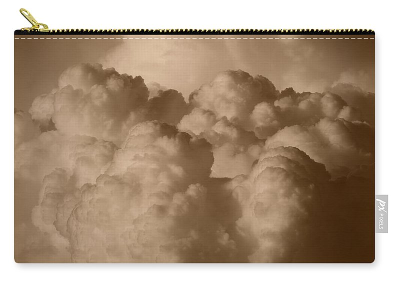 Sepia Carry-all Pouch featuring the photograph Sepia Clouds by Rob Hans