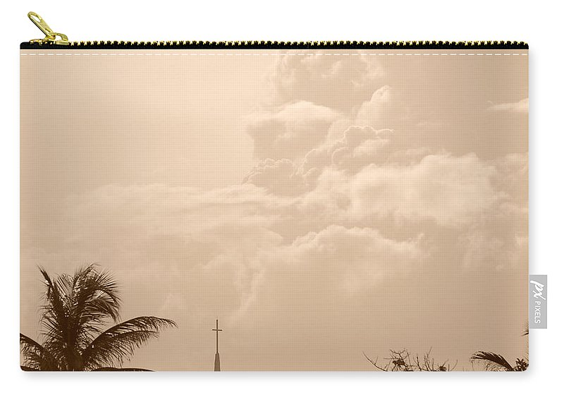 Sepia Carry-all Pouch featuring the photograph Sepia Sky by Rob Hans