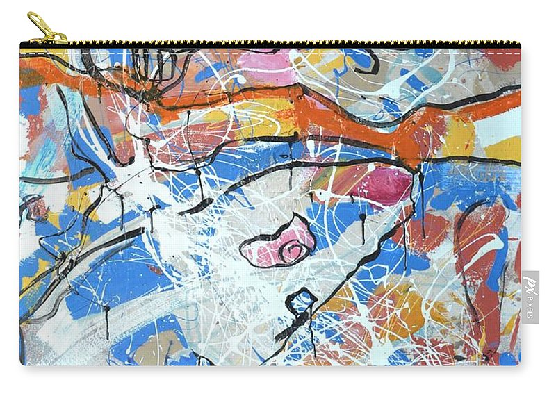 Abstract Carry-all Pouch featuring the painting shark attack - Challenge 2017 Find a Cure by Grace Divine