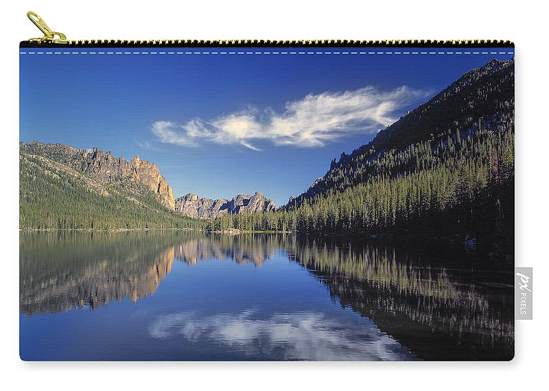 Altitude Carry-all Pouch featuring the photograph Ship Island Lake by Leland D Howard