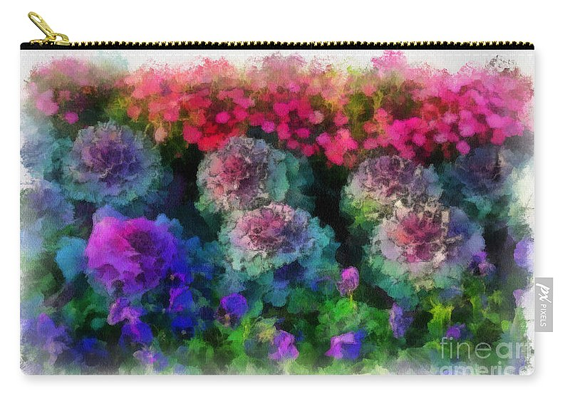 Flower Carry-all Pouch featuring the painting Signs Of Spring by Paulette B Wright