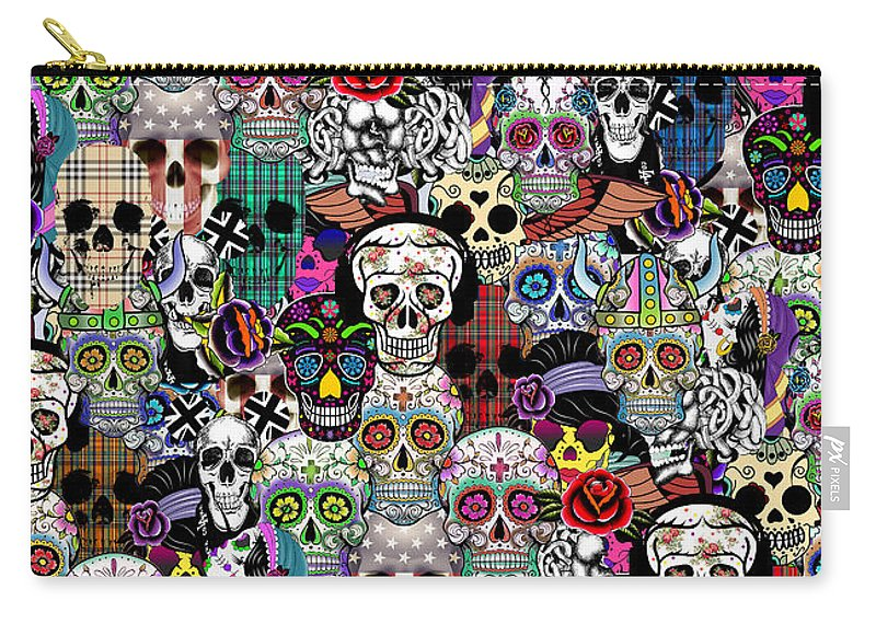 Pattern Carry-all Pouch featuring the painting Halloween by Mark Ashkenazi