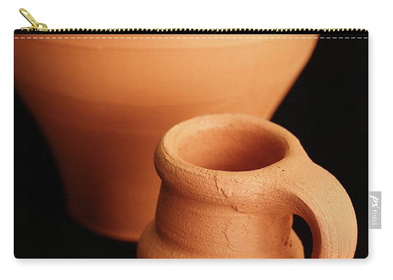 Pottery Carry-all Pouch featuring the photograph Small Pottery Items by Gaspar Avila
