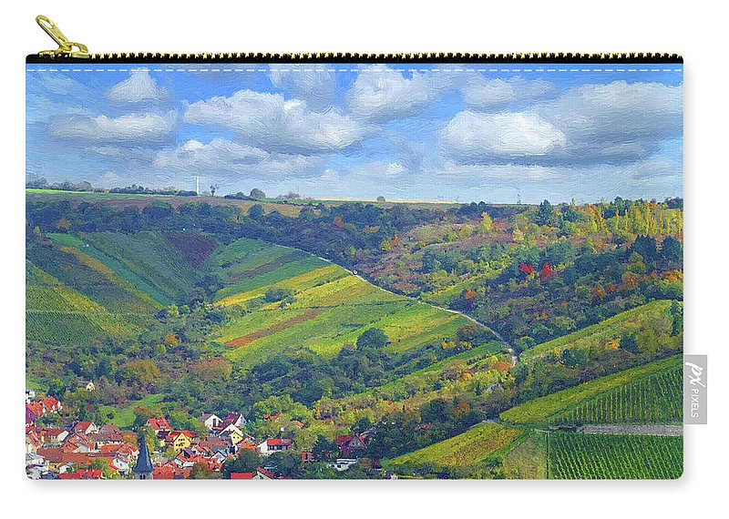 Nature Carry-all Pouch featuring the digital art Small Town by Alex Lim