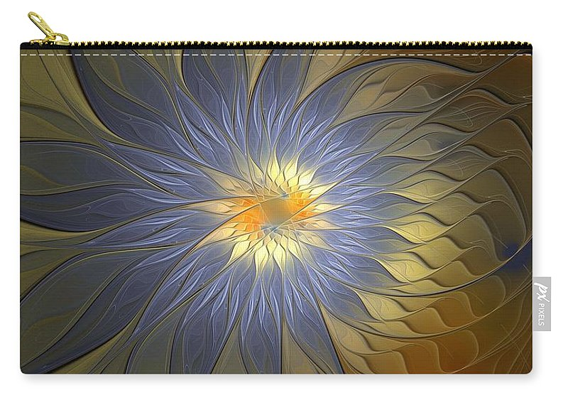Digital Art Carry-all Pouch featuring the digital art Something Blue by Amanda Moore
