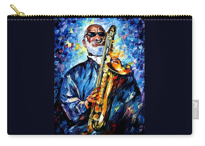 Afremov Carry-all Pouch featuring the painting Sonny Rollins by Leonid Afremov