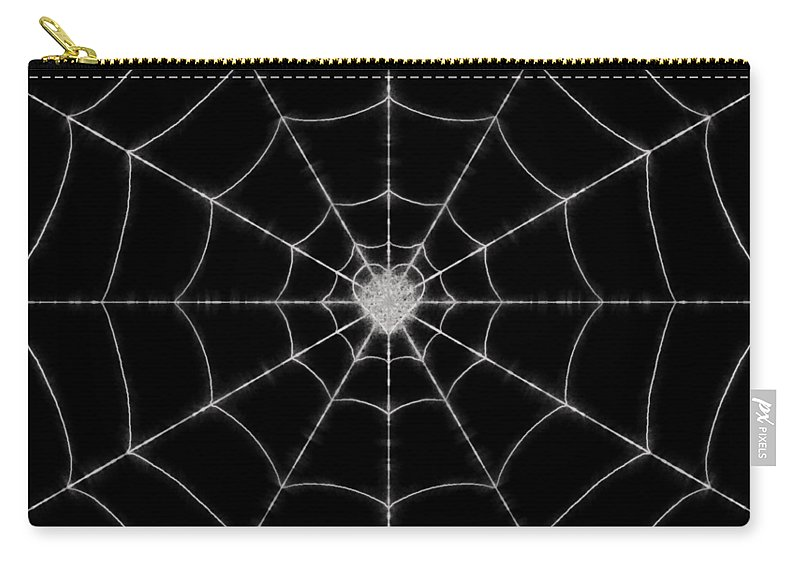 Spider Carry-all Pouch featuring the digital art Spider No.2 by Abdulaziz Butaiban
